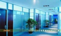 木质与玻璃组合款屏风高隔断