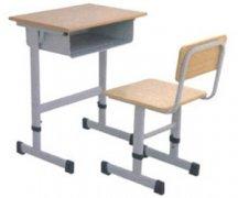 高低可调节单人课桌椅
