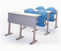 优质防火板连体学生课桌椅