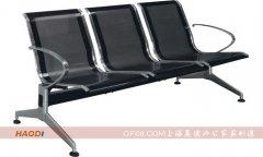黑色加厚三人位不休钢排椅