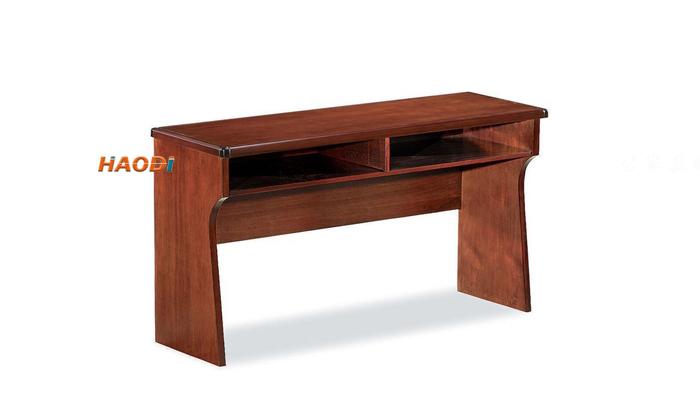 经典红胡桃木色培训桌