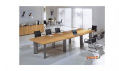 钢脚板式经典结合款板式会议桌