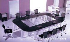 黑色浮雕板板式会议桌