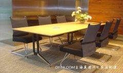 优质钢架雅致板式会议桌