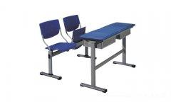 钢制屉硬朔台面学生课桌椅