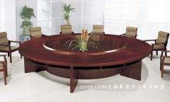 聚酯油漆圆形实木会议桌