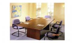 木皮贴面聚酯油漆会议桌