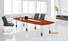 亮丽清新款实木会议桌