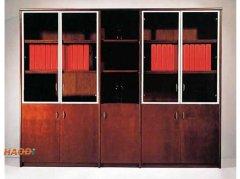 铝合金边框时尚组合款实木书柜