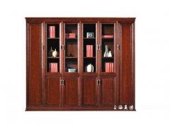 公司常用款多门实木书柜