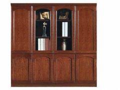 经典红胡桃木实木书柜