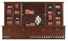 沉稳大气木皮贴面实木书柜